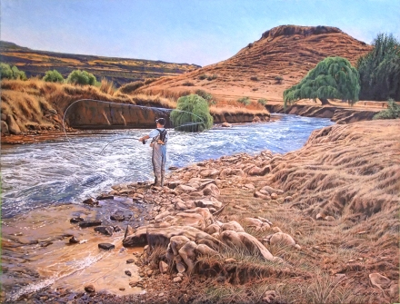 Afternoon on the Ash river / Clarens